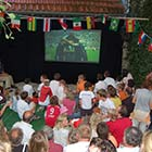 Public Viewing in Biergarten